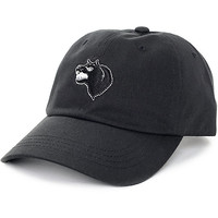 HUF Wolf Black Dad Hat