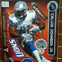 NFL Detroit Lions Calvin Johnson 10.5″ X 16″ Fathead Wall Graphic