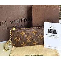 LV Louis Vuitton Key Pouch Clutch Bag Wristlet