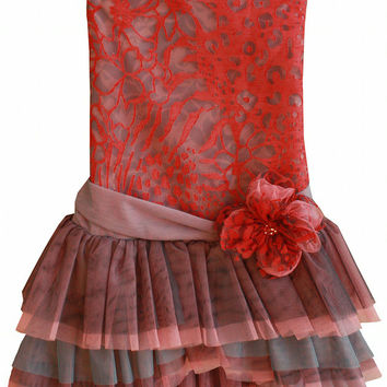 Isobella & Chloe Coral Kiss Tulle Dress