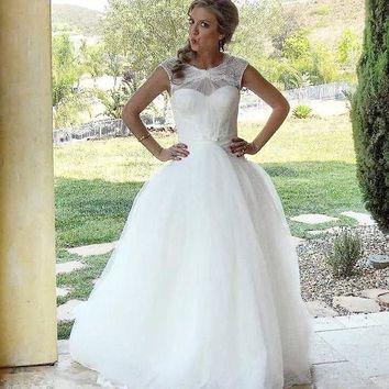 Truly Zac Posen Lace and Tulle Wedding Dress - Davids Bridal