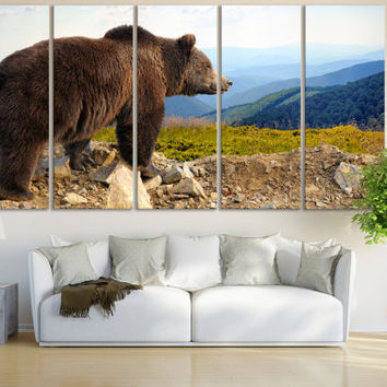 Bear Wall Art / Bear Print / Animal Art / Woodland Animal Wall Art For Home Wildlife Print / Bear Photography Canvas Art Animal Artwork