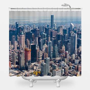 New York City From Above Shower Curtain