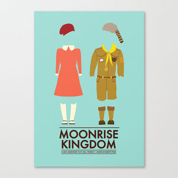 Moonrise Kingdom Poster Stretched Canvas by Girlviolence