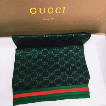 GUCCI classic style street brand wild double G jacquard logo cashmere long scarf
