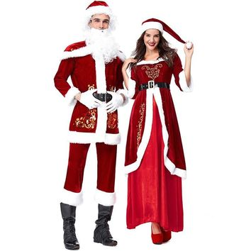 2018 new hot Santa Claus clothing European and American Christmas party party costumes Christmas lovers