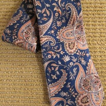 Vintage 1980s Pink Classic + Paisley Silk Tie