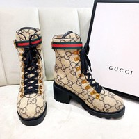 Gucci Women Casual Shoes Boots popularable casual leather Women Heels Sandal Shoes