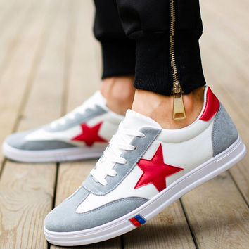 WAWFROK Flats Men Casual Shoes 2017 New Fashion Canvas Shoes Men Lace-Up Spring Summer Breathable   Men Shoes