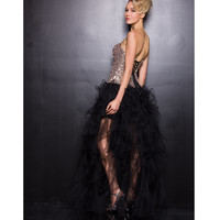 2013 Prom Dresses - Black & Gold Sequin Prom Gown - Unique Vintage - Prom dresses, retro dresses, retro swimsuits.