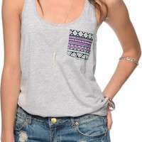 Sirens & Dolls Geo Tribal Pocket Tank Top