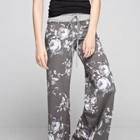 Floral Fancy Lounge Pants - Grey