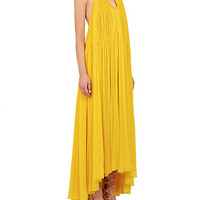 Pleated Silk Maxi Dress - Zoom - Saks Fifth Avenue Mobile