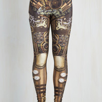 Steampunk Skinny Gear We Go Again Leggings