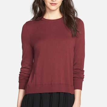 Women's Chelsea28 Pleated Hem Sweater,