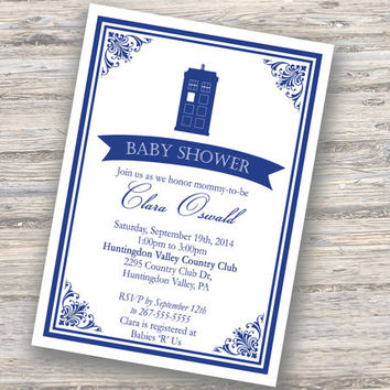 Victorian Tardis Invitation Printable DIY (Doctor Who Inspired)