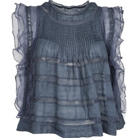 Slate Blue Ojima Top by Isabel Marant - Moda Operandi