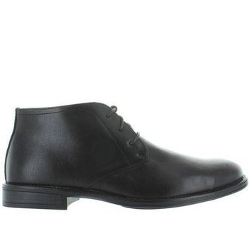 ESBONIG Deer Stags Mean - Waterproof Black Leather Chukka Boot