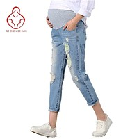 New Jeans Maternity Pants For Pregnant Women Clothes Trousers