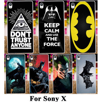 Silicone Plastic Phone Case For SONY Xperia X F5121 Dual F5122 5.0 inch Cover America Captain Batman Freeshipping Shell Housing