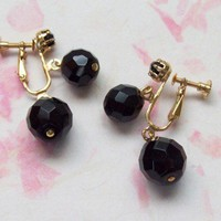 Vintage Onyx Drop Earrings