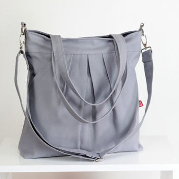 Light Gray Bag, Double Straps, Washable Bag, Handbags Canvas Bag Diaper bag Shoulder bag Hobo bag Handbags Tote bag Purse Everyday bag Gift
