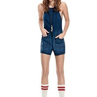 Free People Womens Overdrive Retro Romper