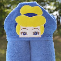 Glass Slipper Princess Hooded Towel