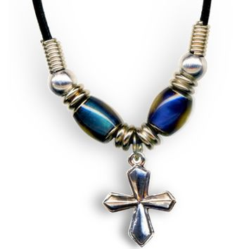 Mood Bead Cross Necklace