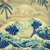 The Great Blue Embrace at Yama Art Print by Kijiermono | Society6