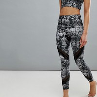 Onzie Printed Crop Sporty Yoga Leggings at asos.com