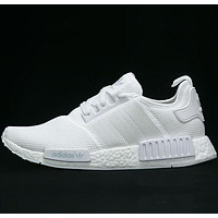 ADIDAS NMD men and women tide fashion casual sports running shoes F White