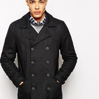 Solid Pea Coat at asos.com