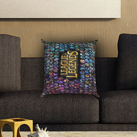 League of Legends All Hero Mosaic Pillow Cover , Custom Zippered Pillow Case One Side Two SIde