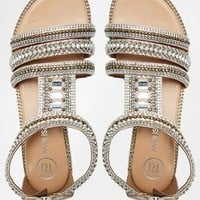 River Island Sead Heavily Embellished Flat Sandals