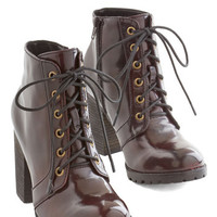 ModCloth Menswear Inspired Stride and Shine Boot in Bordeaux