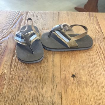 Baby & Toddler Boy Blue & Tan Sandal