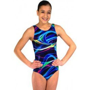 Gymnastics Leotards by Snowflake Designs Rio Leotard - Women & Girls Cool Gymnastic Leotards for Workout and Competition