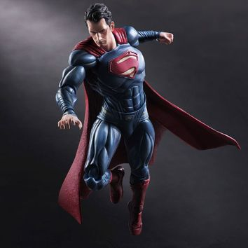 Movie Figure 25 CM PLAY ARTS KAI Batman V Superman Dawn of Justice Variant Superman PVC Action Figure Collectible Models Toys