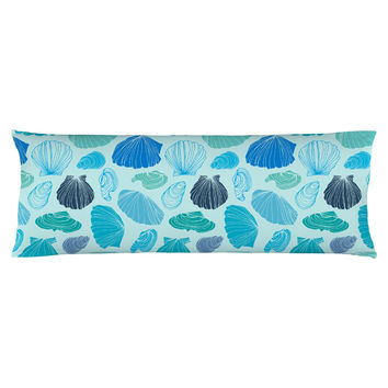 Turquoise Shells Body Pillow