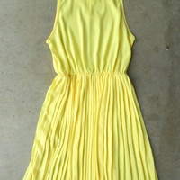 Sweet Pleated Daffodil Dress [3086] - $44.00 : Vintage Inspired Clothing & Affordable Summer Dresses, deloom | Modern. Vintage. Crafted.