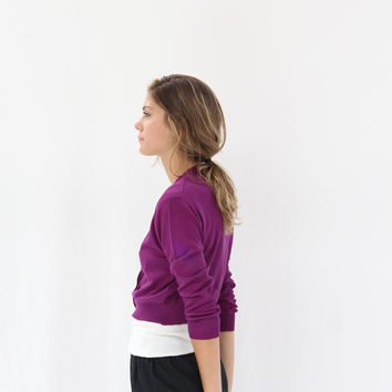 Lina Rennell Knit Cardigan Grape
