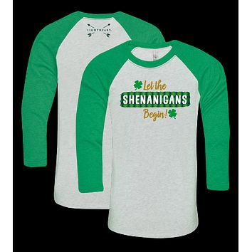 Southern Couture Lightheart Shenanigans Irish Raglan Long Sleeve T-Shirt