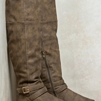 Twisted Over the Knee Wide Boots