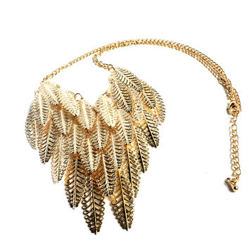 """Golden Flow"" Gold Necklace"