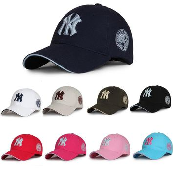 Unisex Mens Womens New York Yankee Baseball Cap Hat Sport Snapstrap Adjustable