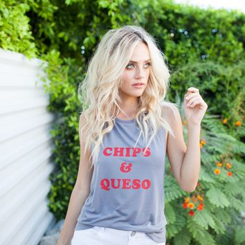 CHIPS & QUESO MUSCLE TANK