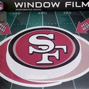 "San Francisco 49ers 8"" Perforated Auto Window Film Glass Decal NFL Football NEW"