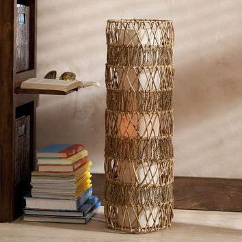 Sea Grass Cylinder Floor Lamp