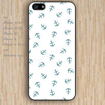 iPhone 5s 6 case blue anchor sea case phone case iphone case,ipod case,samsung galaxy case available plastic rubber case waterproof B679